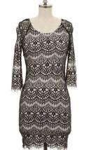 Beautiful Size L Black Lace Design Dress Sexy - $11.29