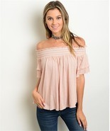 New Maronie Nude Color Off Shoulder Top S,M,L - $19.99