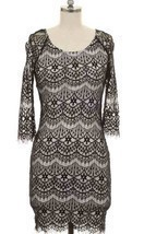 Beautiful Size S Black Lace Design Dress Sexy  - $245,19 MXN