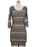 Beautiful Size S Black Lace Design Dress Sexy  - $251,66 MXN
