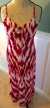 INC Medium Maxi Dress Pink And White Tie Dye Gorgeous - $11.30