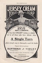 1901 J B Williams Co Glastonbury CT Ad Jersey C... - $8.86