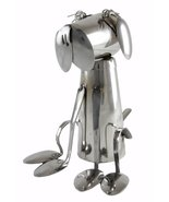 Forked Up Art G02 Stainless Steel Fork and Spoon Dog Sculpture - $61.38