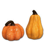 Pumpkin Gourd Salt and Pepper Shakers Thanksgiving Fall Autumn Harvest H... - £10.57 GBP