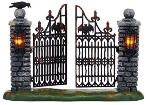 Department 56 Halloween Village Spooky Wrought Iron Gate Accessory, 4.53-Inch