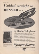 1932 Western Electric Ad: Western Air Express Denver CO Municipal Airport - $7.87