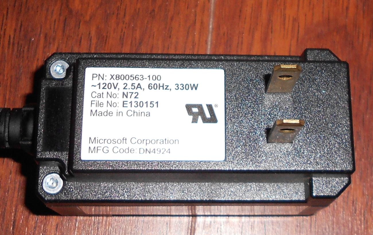 GENUINE MICROSOFT XBOX PROTECTION AC POWER ADAPTER MODEL X800563-100