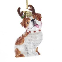Bulldog w/Antlers Noble Gems Glass Ornament - $19.95