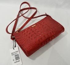 Brahmin Sienna Embossed Leather Shoulder/ Crossbody Bag in Carnation Melbourne - $189.00