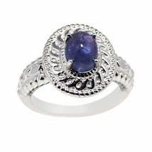 Solid Handmade Wedding Ring for Women with Tanzanite Stone Ring Sz 6.5 S... - $24.03
