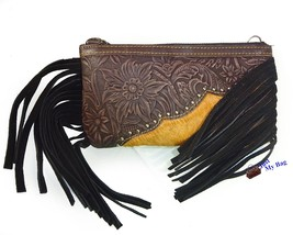 New Montana West-American Bling Genuine Leather, Phone & Card Crossbody ... - $31.68