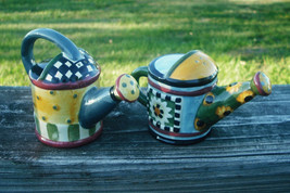 "Sakura - Watering Cans Salt and Pepper Shakers - UnUsed Cond...3"" Tall X... - $6.65"