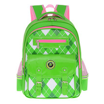 Children breathable students spinal care plaid cartoon backpack - $25.00