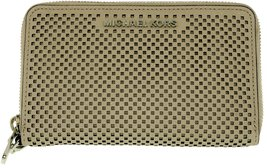 Michael Kors Jet Set Travel Phone Case Perforated Sporty Leather (Cement) - $141.56