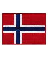 Norway Flag Embroidered Patch Norwegian Iron-On National Emblem - $3.99