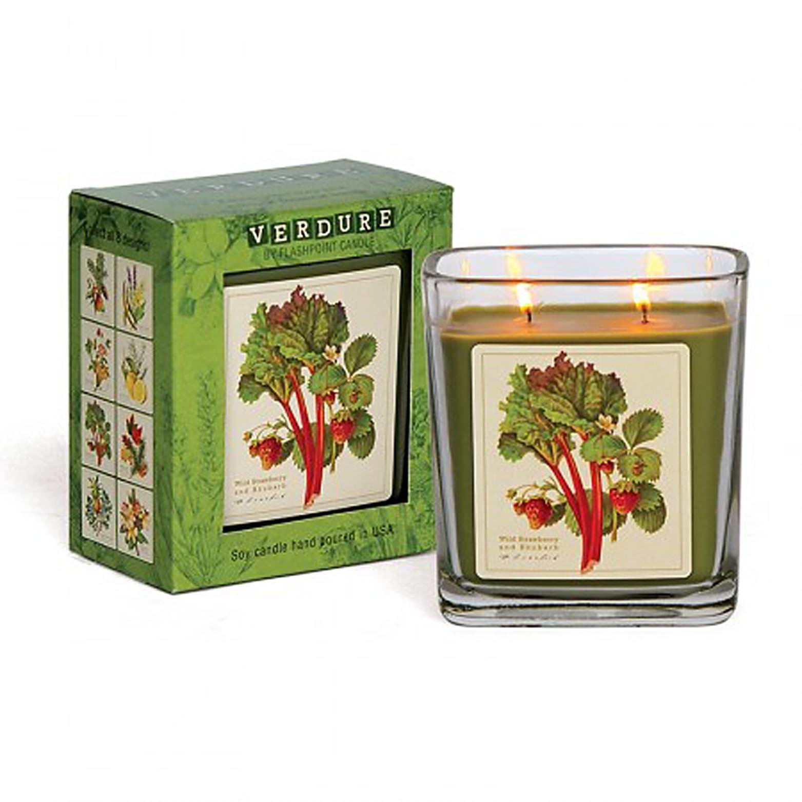 Verdure Soy Double Wick Candle Hand Poured in USA Boxed Gift (Wild Strawberry...