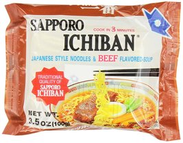 Sapporo Ichiban, Beef, 3.5-Ounce Packages (Pack of 24) - $17.64