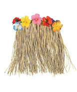 Large Hawaiian Hula Skirt with Flowers - Grass Hibiscus luau Party Outfi... - $15.35 CAD