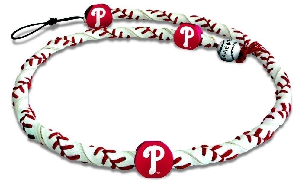 PHILADELPHIA PHILLIES FROZEN ROPE GENUINE BASEBALL LEATHER NECKLACE MLB