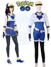 Pocket Monster Pokemon GO Female Trainer Avatar Blue Uniform Cosplay Costume - $98.99+