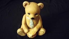 "Jumbo Teddy Bear Porcelain Figurine ""Honey Pot Bear Tie"" HOMCO - $16.00"