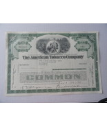 American Tobacco Co Stock Certificate 5 Shares ... - $9.99
