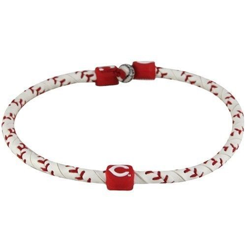 CINCINNATI REDS FROZEN ROPE GENUINE BASEBALL LEATHER NECKLACE MLB