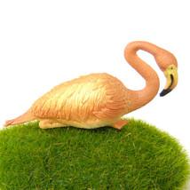 Pink Flamingo Realistic Lifelike Bird Figurine Fairy Garden Terrarium De... - $7.99