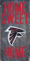 "ATLANTA FALCONS HOME SWEET HOME WOOD SIGN and ROPE 12"" X 6""  NFL MAN CAVE!"
