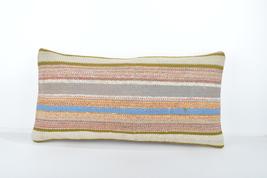 Modern decor,Kilim Bolster, Rustic Decor  Colorful pillow 24x12'' rugs ... - $18.00