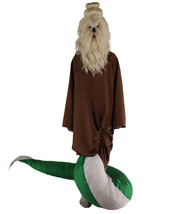 Serpant Monk | Men's White Brown and Green Straight Serpant Monk Wig & C... - $157.85