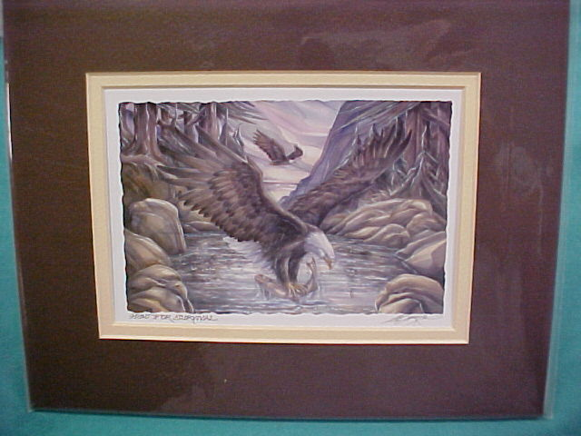 Hunt for Survival Jody Bergsma Art Print Salmon Rivers