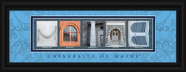 University of Maine Black Bears Officially Licensed Framed Campus Letter... - $39.95