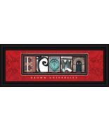 Brown University Bears Officially Licensed Framed Campus Letter Art - $39.95