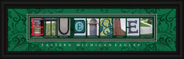 Eastern Michigan Eagles Officially Licensed Framed Campus Letter Art - $39.95