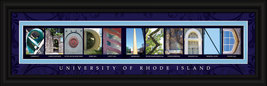 University of Rhode Island Rams Officially Licensed Framed Campus Letter... - $39.95