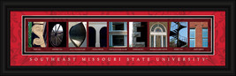 Southeast Missouri State University Redhawks Framed Campus Letter Art  - $39.95
