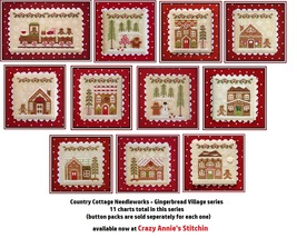 FULL BUNDLE PACK 2016 Gingerbread Villlage series cross stitch Country Cottage  - $56.10