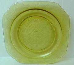 Madrid Amber Glass Salad Plate Federal  Bicentennial Recollection 1976 - $14.80