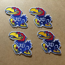 s4 Brightly colored Kansas Jayhawks embroidered patches KU Iron On Colle... - $9.99