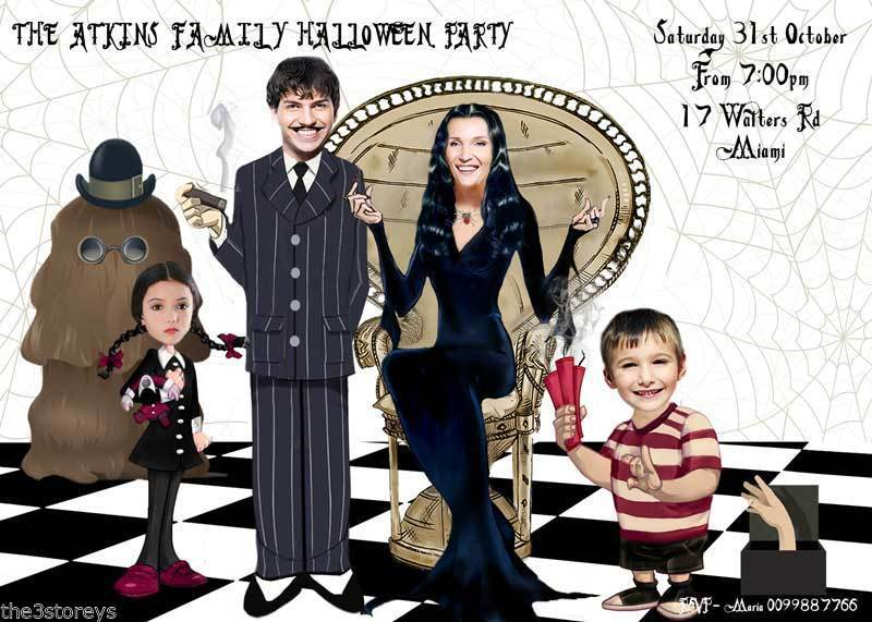 Addams Family Halloween Party.Addams Family Parody Halloween Invitation And 50 Similar Items