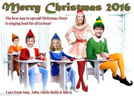 Buddy the Elf Christmas Card, Family Photo Christmas Card, Will Ferrell ... - $27.00+