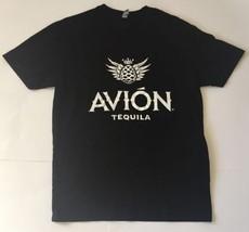 Avion Tequila Black T-shirt L Logo Image Advertising Tee Top - $10.88