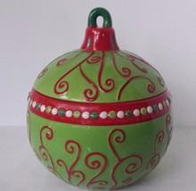 CERAMIC COOKIE JAR CHRISTMAS BALL ORNAMENt - $16.36