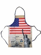 American Flag kitchen Apron, Pride Patriotic, Statue of Liberty Apron BB... - $13.09