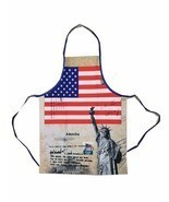 American Flag kitchen Apron, Pride Patriotic, Statue of Liberty Apron BB... - $17.18 CAD