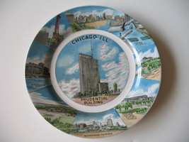 Chicago Ceramic Souvenir Plate Prudential Building 9 inch Vintage Collec... - $8.81