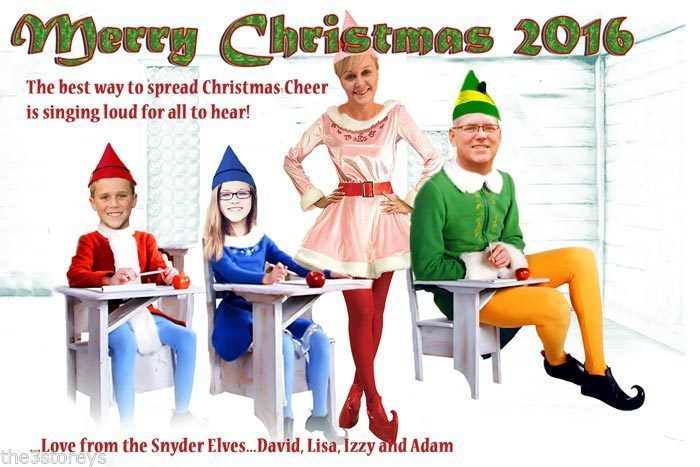Buddy the Elf Christmas Card, Family Photo Christmas Card, Will Ferrell Parody
