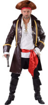 "Pirate ""Great"" Coat  - Brown Leather Look  - $52.10"