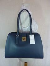 NWT FURLA Avio Scuro/Dark Blue Leather M Milano Tote Bag - Made in Italy - $423.70